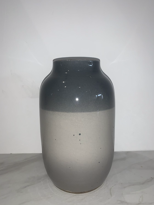 GREY TWO TONE CERAMIC VASE