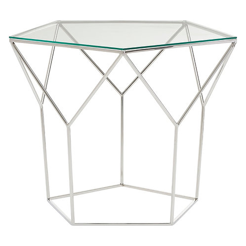 LUXE Shalimar Pentagonal Silver Coffee Table
