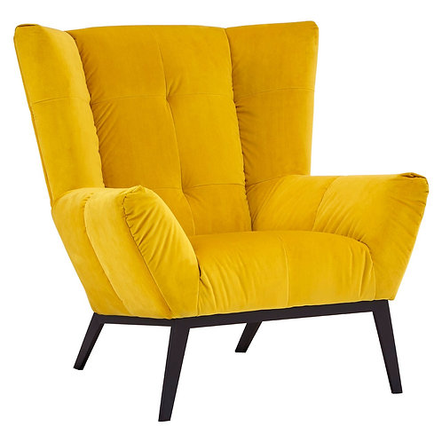 LUXE Maiko Yellow Fabric Armchair