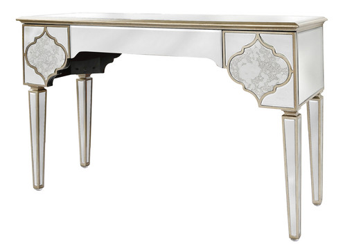MIRRORED MOROCCAN 3 DRAWER CONSOLE TABLE