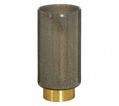 TALL GREY SPECKLED VASE