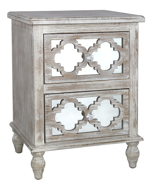 MODERN COUNTRY 2 DRAWER BEDSIDE