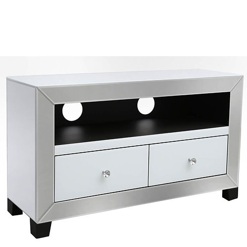 APOLLO WHITE 2 DRAWER TV UNIT