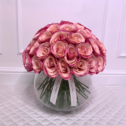 LARGE HOT PINK ROSE BUBBLE