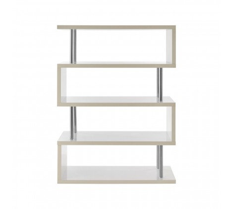 4 TIER WHITE GLOSS WIDE DISPLAY UNIT