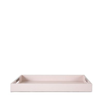 PINK FAUX LEATHER TRAY