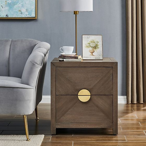 TALLIS 2 DRAWER SIDE TABLE