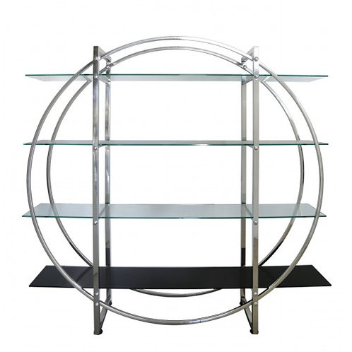 CHROME CLEAR AND BLACK CIRCLE DISPLAY UNIT