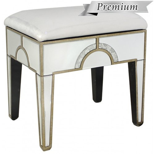 MIRRORED ART DECO STOOL