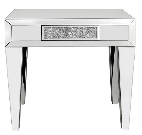 LUXURY CRUSHED CRYSTAL 1 DRAWER CONSOLE TABLE