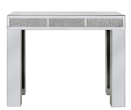 LUXURY CRUSHED CRYSTAL CONSOLE TABLE