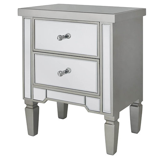 VISTA CHAMPAGNE BEDSIDE TABLE
