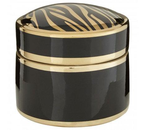 GOLD AND BLACK ZEBRA POT LARGE