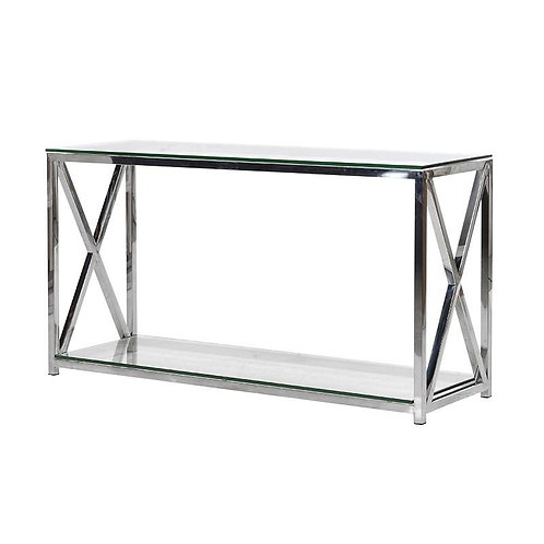 CHROME CROSS CONSOLE TABLE