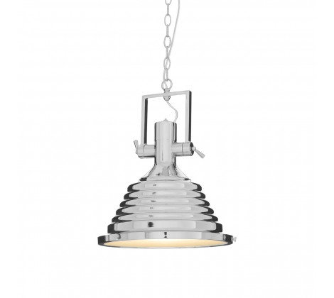 MINERVA MEDIUM CHROME PENDANT CEILING LIGHT
