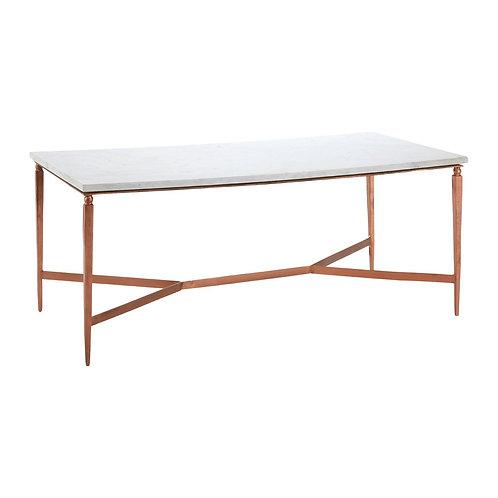 LUXE Nirav White Marble Top Coffee Table