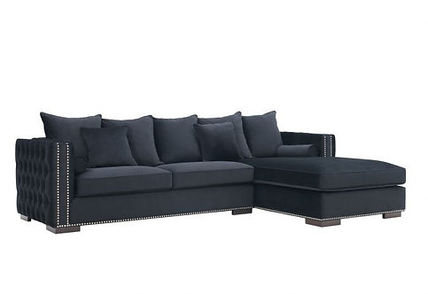 BLACK MAYFAIR CORNER SOFA RIGHT