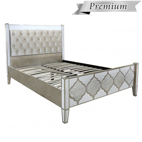 MIRRORED MOROCCAN KINGSIZE BED FRAME
