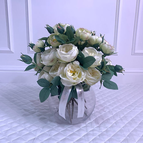 SMALL CREAM GARDEN PEONY BUBBLE