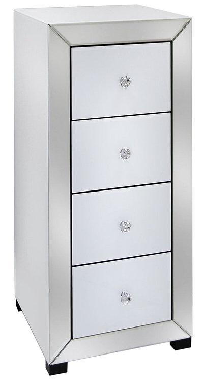 Apollo White 5 drawer tallboy