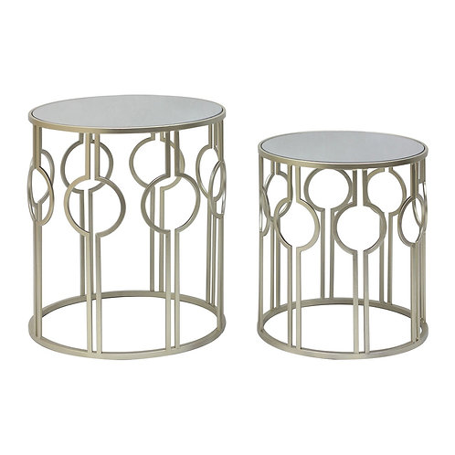LUXE Avantis Champagne Metal Tables