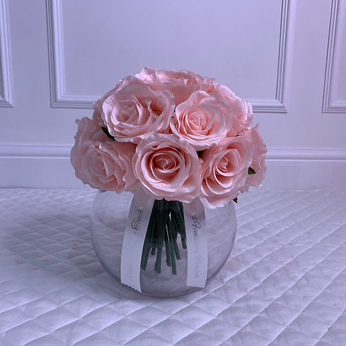 SMALL CANDY PINK ROSE BUBBLE