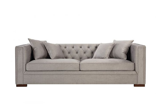 MORELLI 3 SEATER SOFA PEBBLE GREY