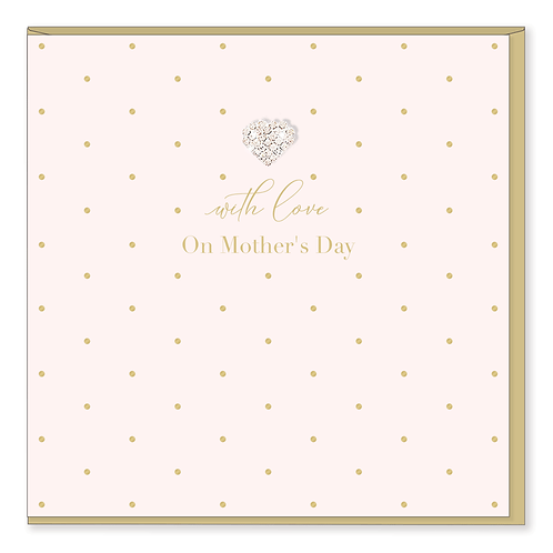 WITH LOVE ON MOTHERS DAY CARD