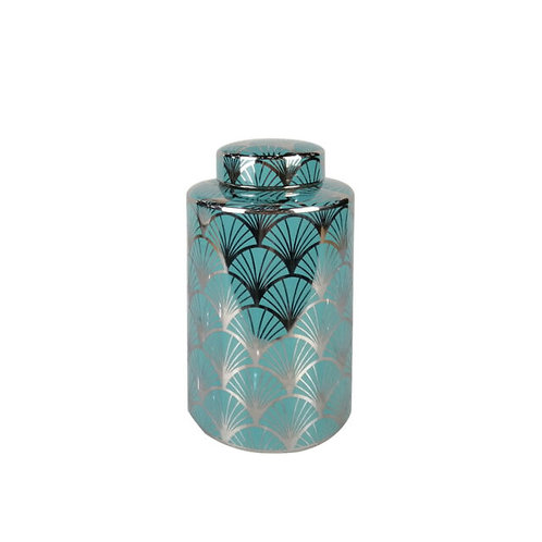 LARGE BLUE SWIRL JAR