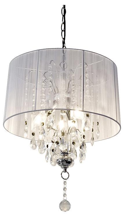 WHITE GLASS DROPLET CEILING LIGHT