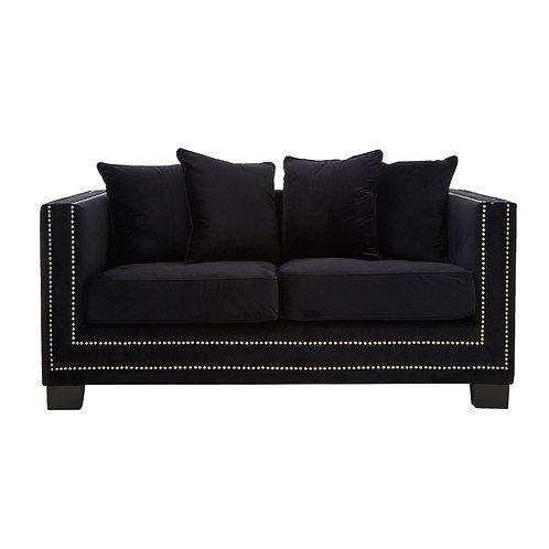 LUXE Sofia 2 Seat Sofa Black