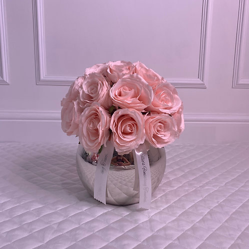 SMALL CANDY PINK ROSE BUBLE SILVER