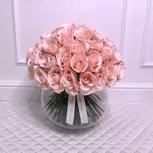 LARGE CANDY PINK ROSE BUBBLE