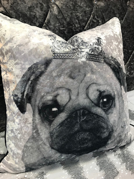 PUG PRINTED CUSHION
