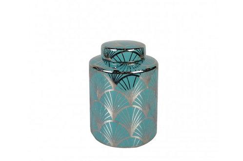 SMALL BLUE SWIRL JAR