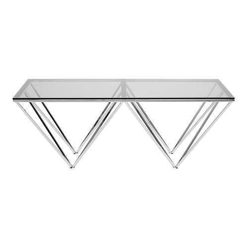 LUXE Allure Coffee Table with Triangular Base