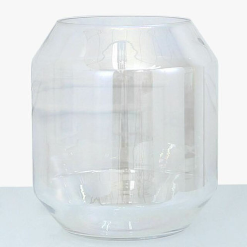 IRIDESCENT GLASS VASE 33cm