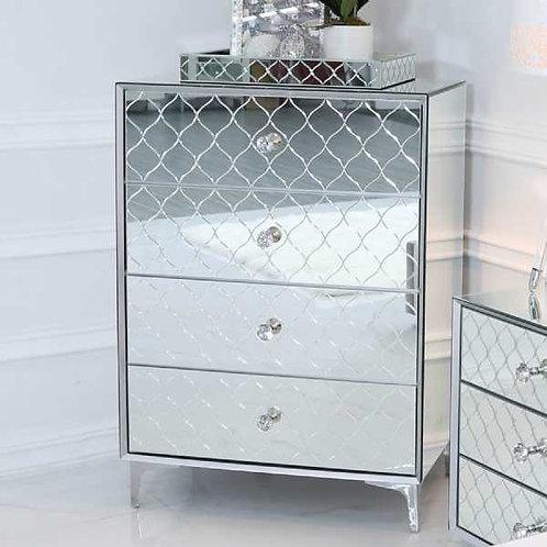 Tiffany Mirror 4 Drawer Chest