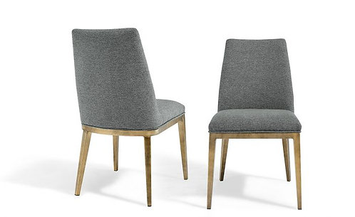 ATLAS GREY LINEN DINING CHAIR (SET OF 2)