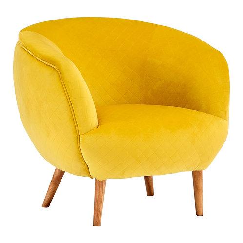 LUXE Oscar Yellow Fabric Chair