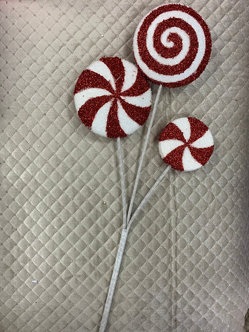 SPRAY OF 3 CANDY CANE