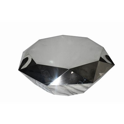 LUXE Allure Chrome Diamond Coffee Table
