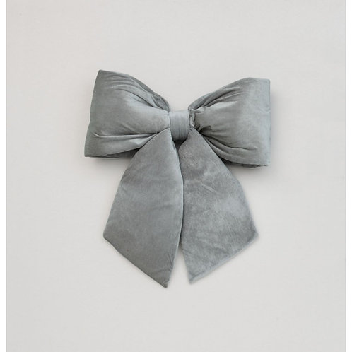 68CM PLUSH BOW DEC GREY