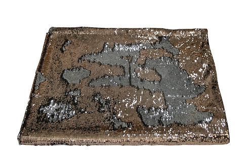 SILVER AND ROSE GOLD SEQUIN THROW