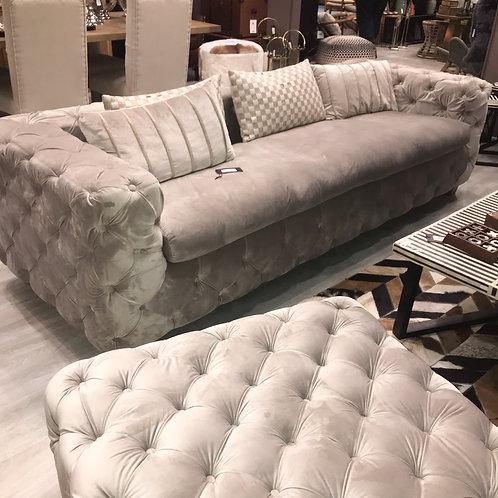 LUXE Ophelia Velvet 3 Seat Sofa