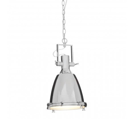 LAZULI SMALL CHROME PENDANT LIGHT