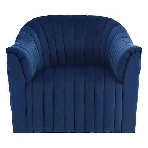 LUXE Opel Deep Blue Velvet Armchair