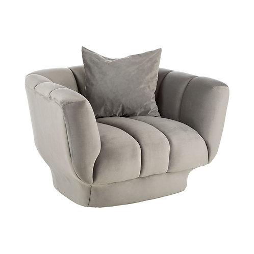 MODA GREY VELVET CHAIR