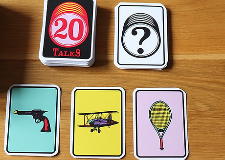 3 Picture Cards from 20 Dreams: Gun, Plane, Tennis Bat