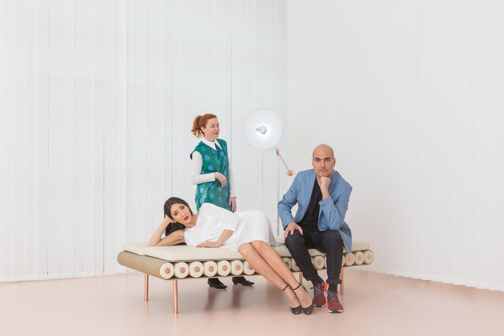 Laura e Alberto Biagetti con Maria Cristina Didero